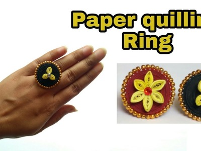 Fancy paper ring | paper quilling jewellery | how to make paper quilling ring | HMA##133