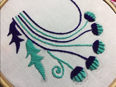 Hand embroidery neckline embroidery design by nakshi design art