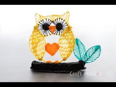 How To Draw An Owl Ornament with 3D Pen