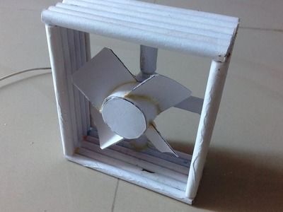 How to make a dc fan using only paper ---- Its About Everything.