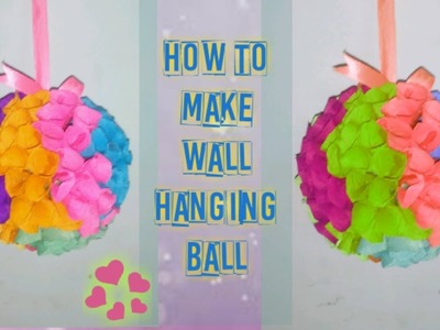 How to make a wall hanging ball!! DIY