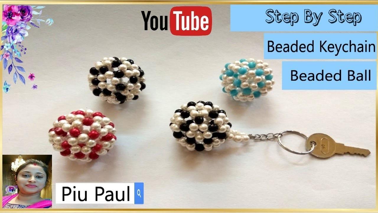 How To Make Beaded Ball | Easy Beaded Ball Tutorial |Crystal Beaded Ball