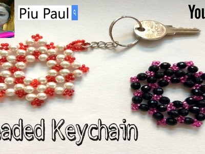 How to make beads keychain DIY-Easy Beaded craft |Beaded keyring