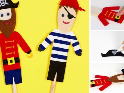 How to make Pirate Puppets from a Wooden Spoon