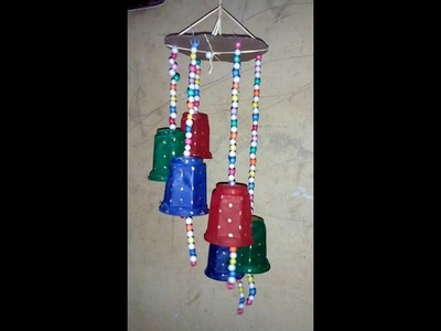 Plastic glass art.craft - waste to best - home decoration from waste plastic glass