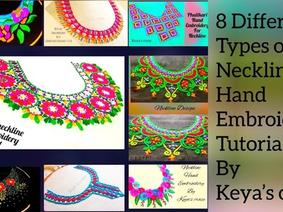 (#2) 8 types of neckline.neck design hand embroidery part 2 #Handembroidery