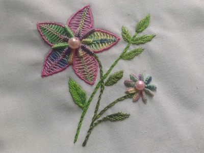 46-Hand Embroidery.Brazilian Embroidery. Flower Embroidery