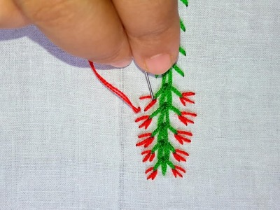 Basic Hand Embroidery Stitch |Border line embroidery tutorial for beginners.