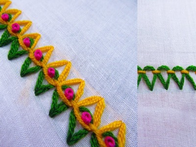 Basic Hand Embroidery Stitches; Step by Step Tutorial; Part 16