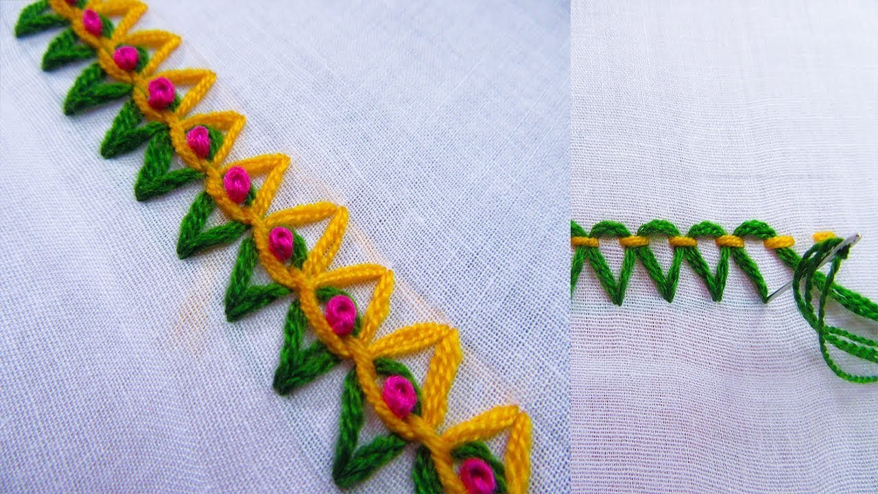 Basic Hand Embroidery Stitches; Step by Step Tutorial; Part 20