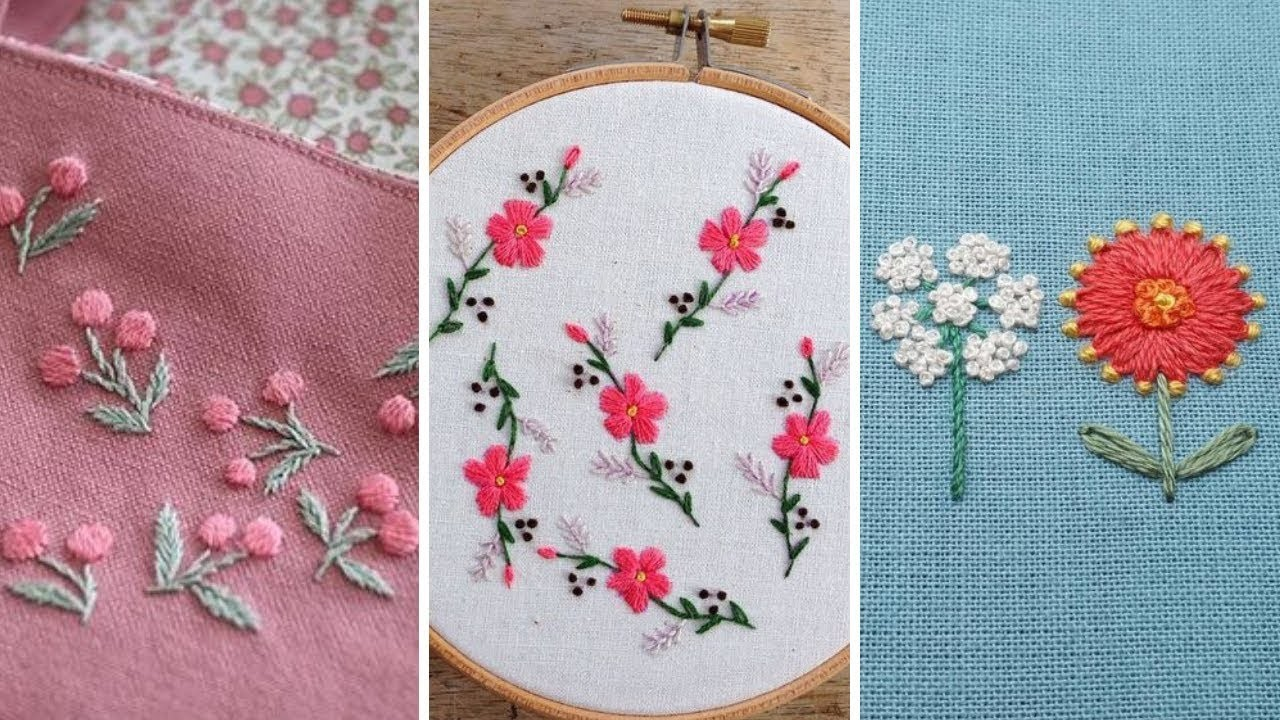 beautiful and simple hand embroidery designs for kids dress
