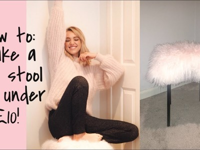 DIY: Fluffy Stool for Under £10! Best and Cheapest IKEA Hack EVER!