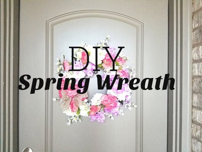 DIY Spring Wreath. CHEAP Dollar Tree Spring Decorations 2018. Melissa and More