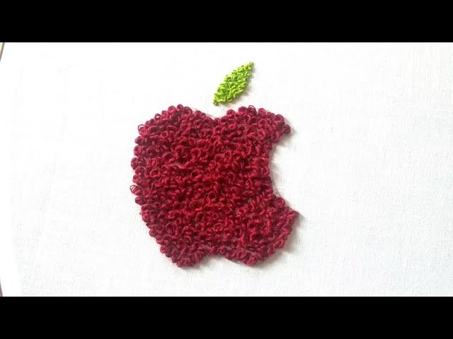 Hand embroidery 2018 | apple logo design | hand embroidery for beginners.