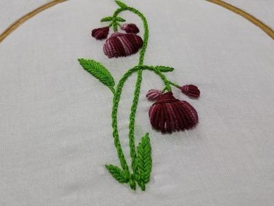 Hand Embroidery : Brazilian Embroidery : Portuguese Knotted Stitch & Bullion Stitch