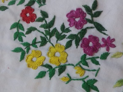 Design hand embroidery.aplic work tutoriul for cushion and bedsheet