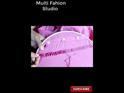 Hand Embroidery for Men,s shirt. Tarkashi Tutorial #. Embroidery design for Gents