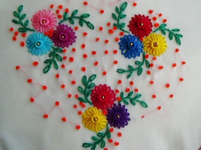 Hand Embroidery: Lazy Daisy Stitch