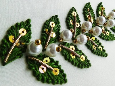Hand Embroidery: Leaf Embroidery