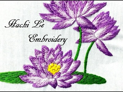 Hand Embroidery Tutorial for Beginners | Long and Short Stitch | Cách thêu hoa súng