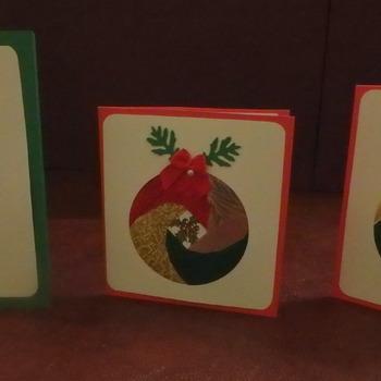 Iris fold Christmas Cards