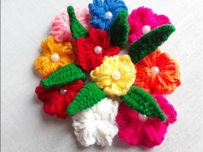 Picot stitch for flower design | Hand Embroidery Designs