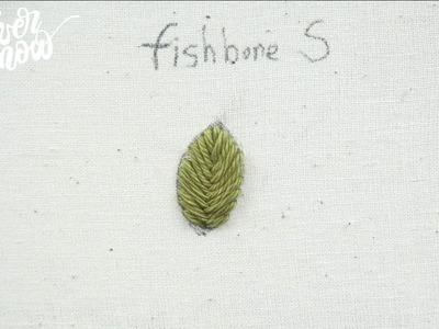 [프랑스 자수] 피쉬본 스티치 fishbone stitch, hand embroidery stitch tutorial