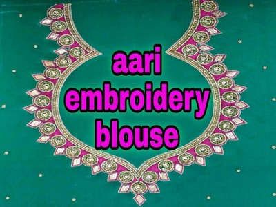 Tutorial new blouse design | Aari embroidery | hand embroidery