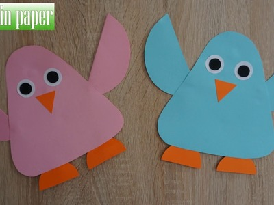 Art Of Cutting Paper Penguin  || How to make a paper Penguin