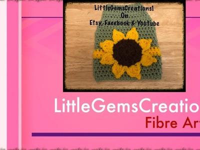 Crochet - XS Dog Sweater with Sunflower