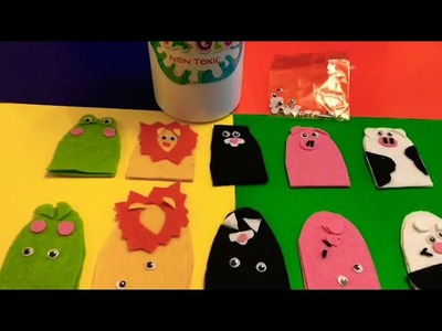 DIY Finger puppets eating sweets!fun,easter fun,holiday fun.entertaining.