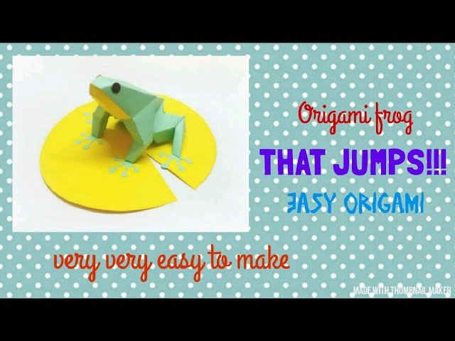 Easy Origami jumping frog | Easy Origami