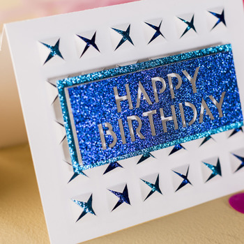 Geometric Happy Birthday