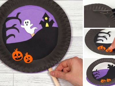 How to make a Moving Halloween Paper Plate Scene