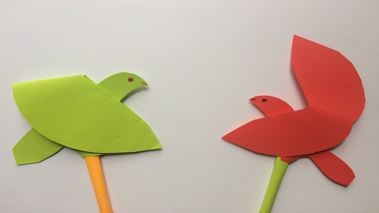 Origami Flapping bird:Easy Paper Flapping bird Making Instructions ... | 720x1280