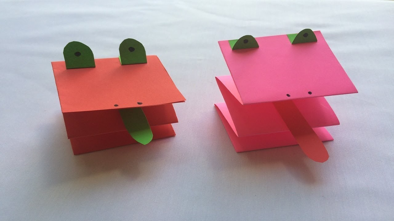 how to make a paper easy frog origami frog simple and fun