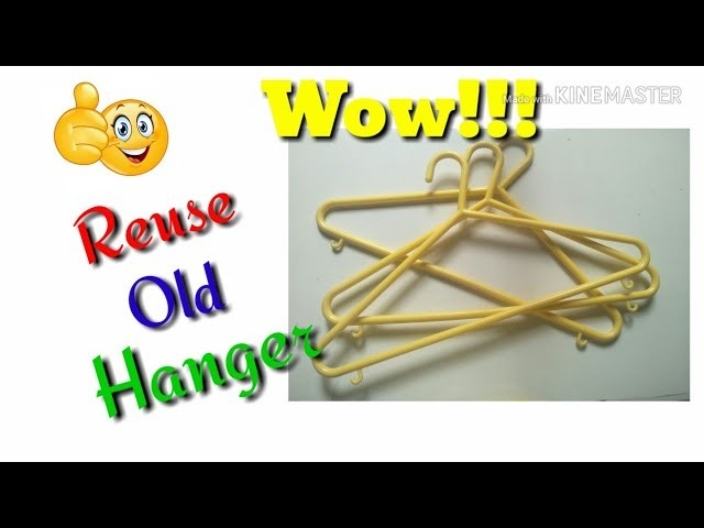 How to make earring holder with waste hanger. . in easy way