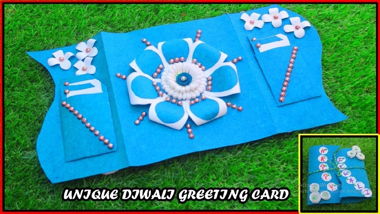 How To Make Greeting Card For DIWALI (DIY)