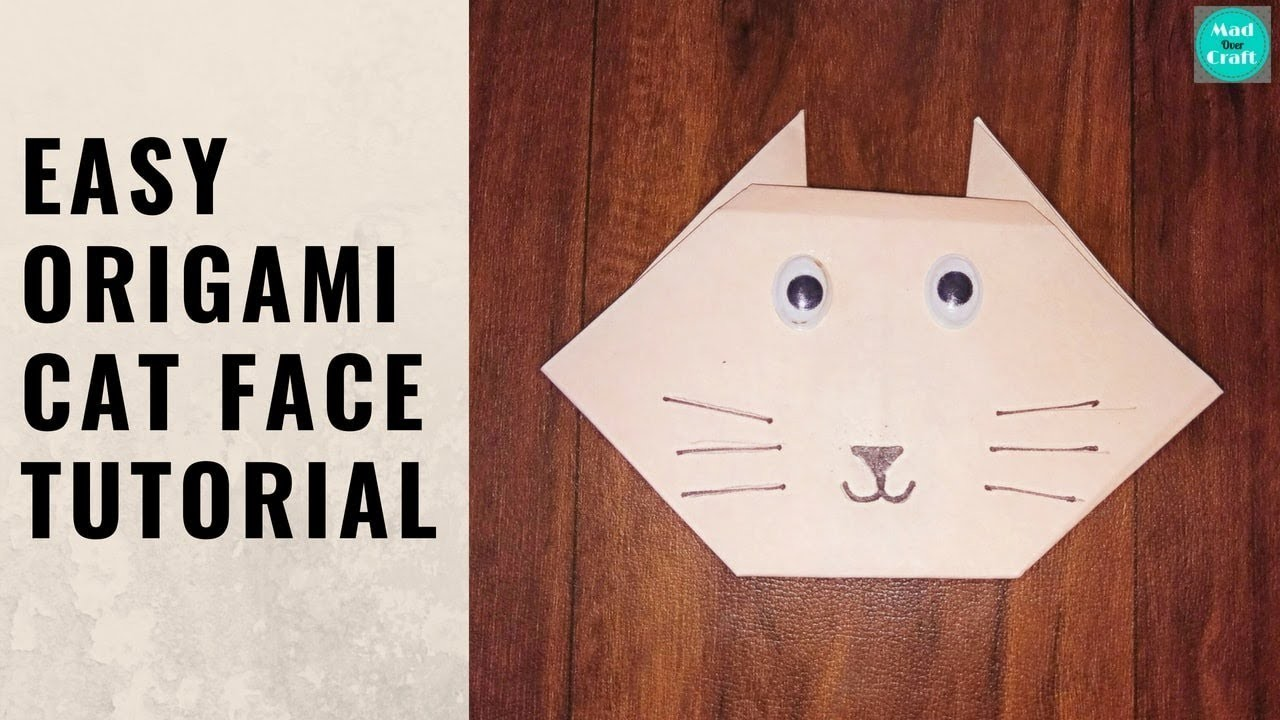how to make origami cat face
