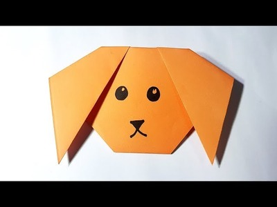 Dog How To Make A Dog Face In Paper Easy Origami Paper Craft For