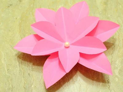Pink flower easy how to make paper flowers in easy way. diy easy crafts