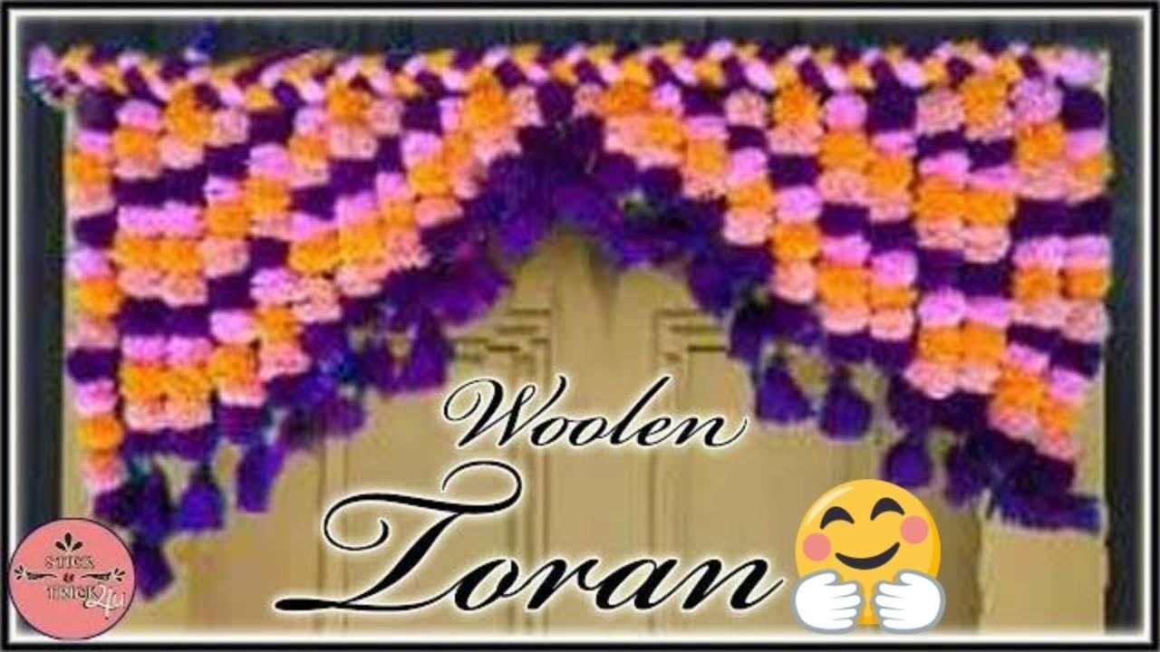 Woolen Toran New Design by Stick&Trick4u || Diy || Toran
