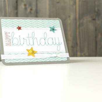 Zig Zag Birthday card