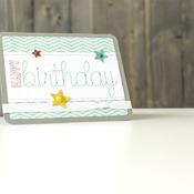 Zig Zag Birthday card