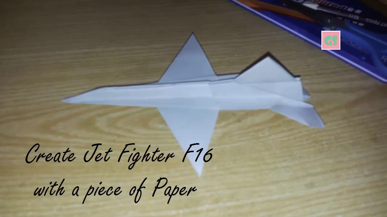 create f16 jet fighter with a piece of paper best