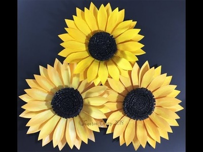 DIY - How to make a Paper Sunflower - Template by VCIDesign