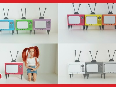photo about Printable Paper Miniatures known as Paper, Do it yourself Miniature Retro Tv Preset (Printable) for
