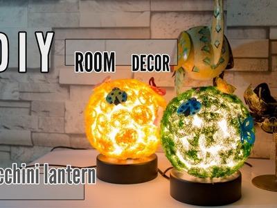 How To D.I.Y  ทำโคมไฟตั้งโต๊ะจากใยบวบของธรรมชาติที่ทุกคนก็ทำได้