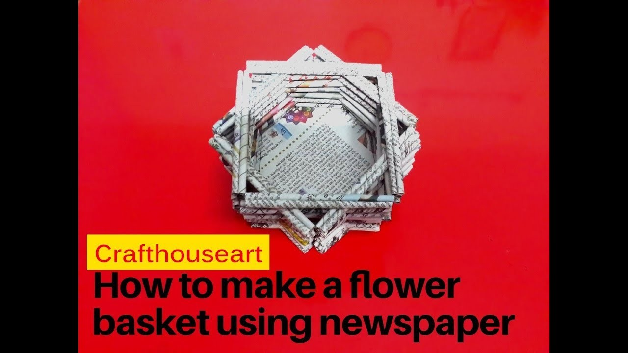 how to make newspaper flowers video