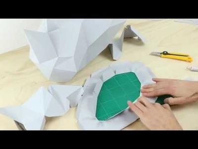 How to make a paper rhino head | Assembli papercraft DIY
